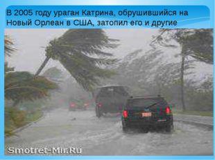 В 2005 году ураган Катрина, обрушившийся на Новый Орлеан в США, затопил его и