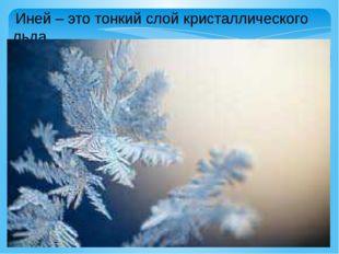 Иней – это тонкий слой кристаллического льда.