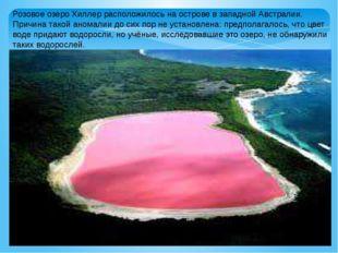Розовое озеро Хиллер расположилось на острове в западной Австралии. Причина т