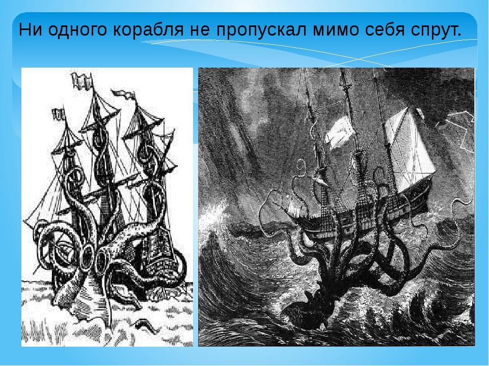 Ни одного корабля не пропускал мимо себя спрут.