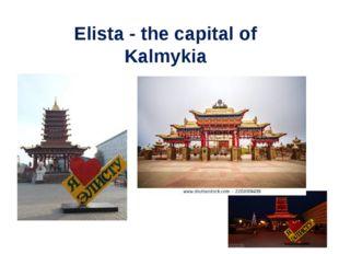 Elista - the capital of Kalmykia