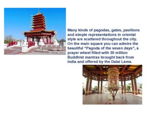 Many kinds of pagodas, gates, pavilions and simple representations in orienta