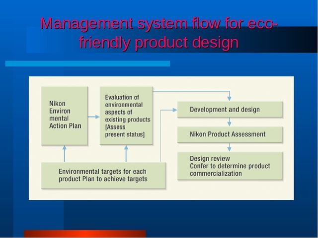 Management system flow for eco-friendly product design