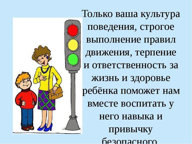Только ваша культура поведения, строгое выполнение правил движения, терпение...