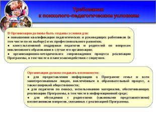 Организация должна создавать возможности: ● для предоставления информации о П