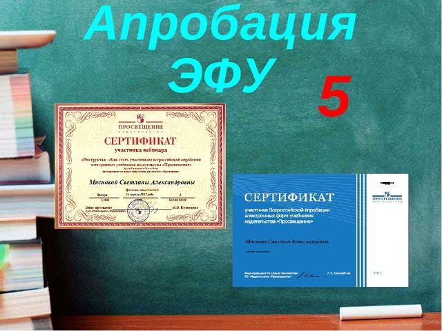 Апробация ЭФУ 5