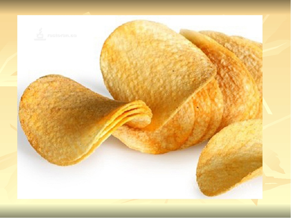 1.Теоретический этап Задачи: расширить представления о составе чипсов, о влия...