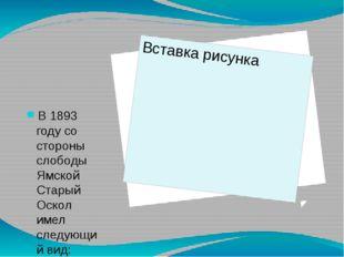 В 1893 году со стороны слободы Ямской Старый Оскол имел следующий вид: