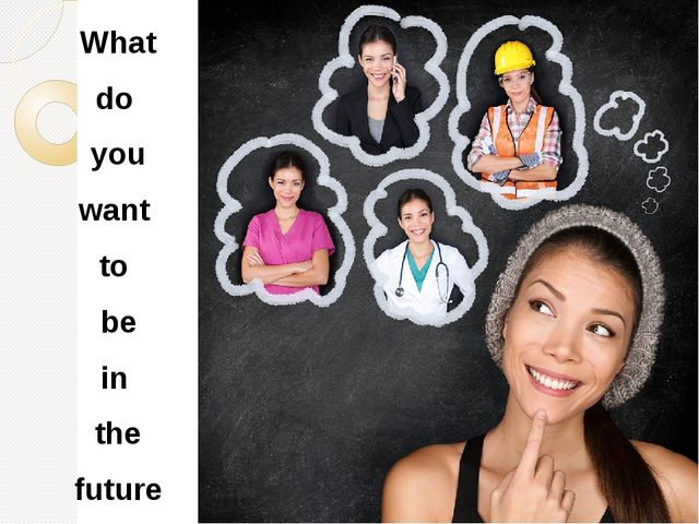 What do you want to be in the future ?