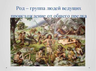 Род – группа людей ведущих происхождение от общего предка