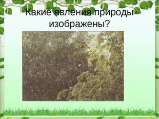 Какие явления природы изображены?