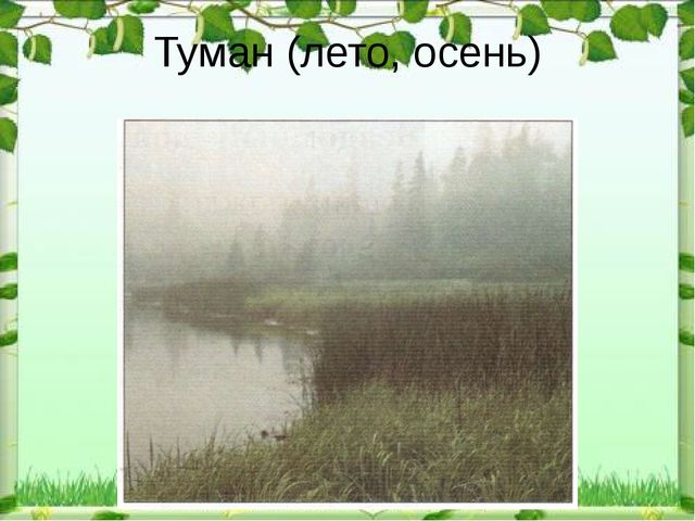 Туман (лето, осень)