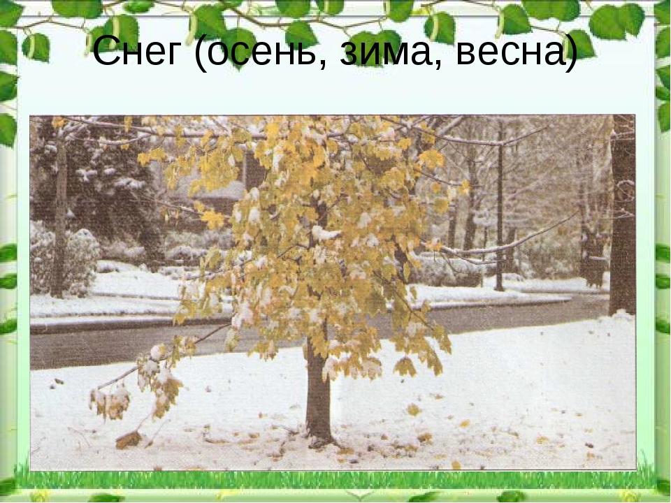 Снег (осень, зима, весна)