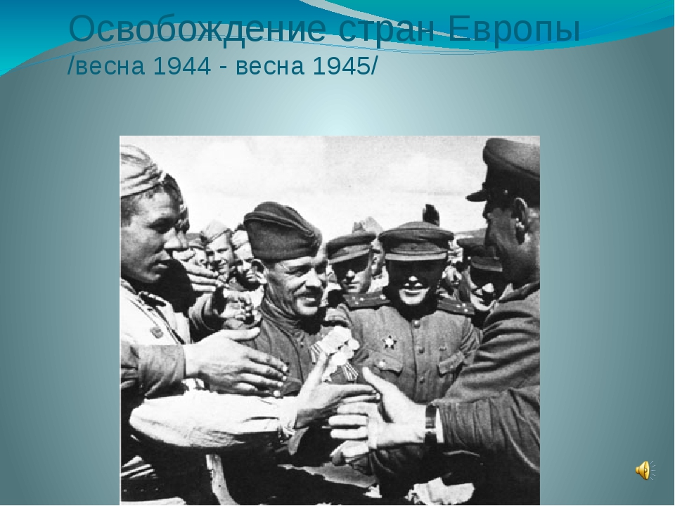 Освобождение стран Европы /весна 1944 - весна 1945/