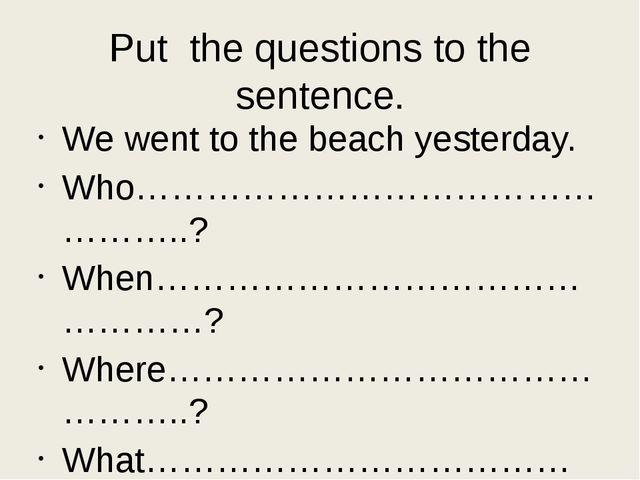 Want some time for yourself? Make your students write 5 sentences about yeste...