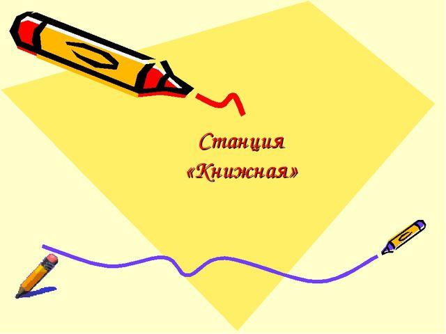 Станция «Книжная»