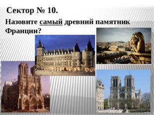Сектор № 10. Назовите самый древний памятник Франции?