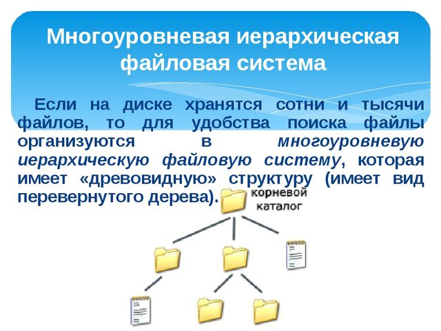 Файлы и файловые структуры по фгос
