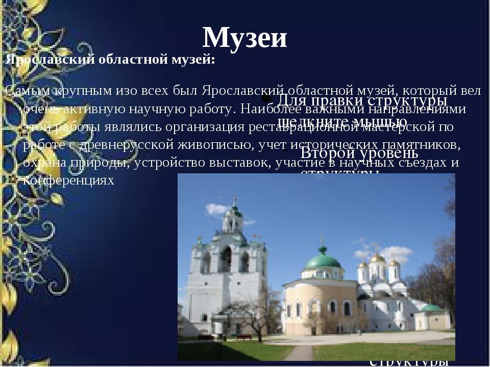 Музеи Ярославский областной музей: Самым крупным изо всех был Ярославский обл...