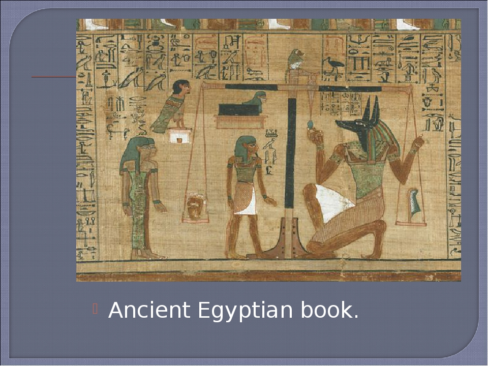 Ancient Egyptian book.