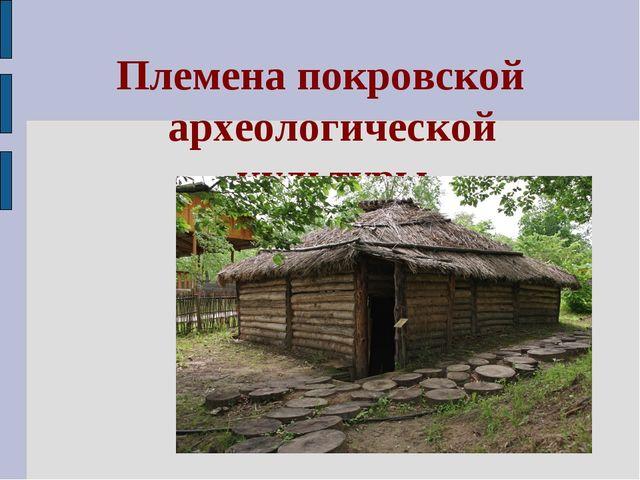 Племена покровской археологической культуры