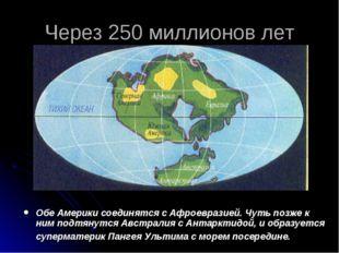 Через 250 миллионов лет Обе Америки соединятся с Афроевразией. Чуть позже к н