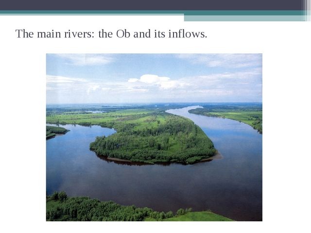 The main rivers: the Ob and its inflows.