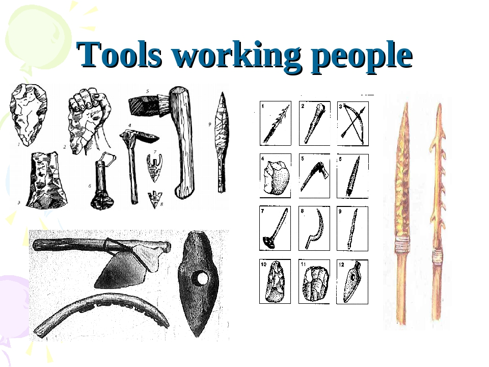 Tools working people