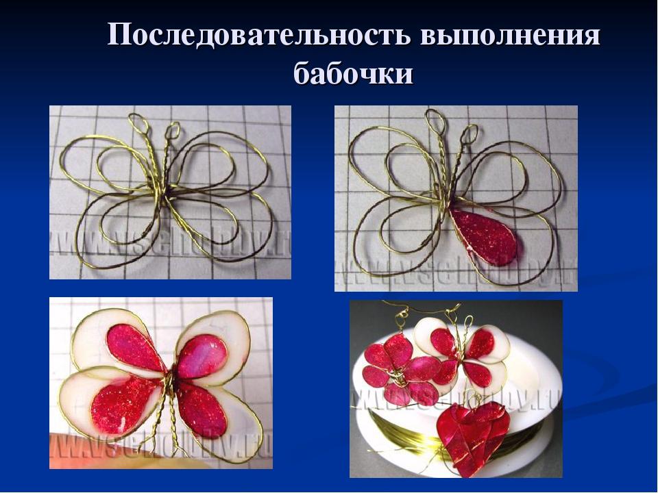 Последовательность выполнения бабочки
