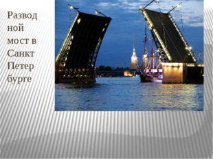 Разводной мост в Санкт Петербурге