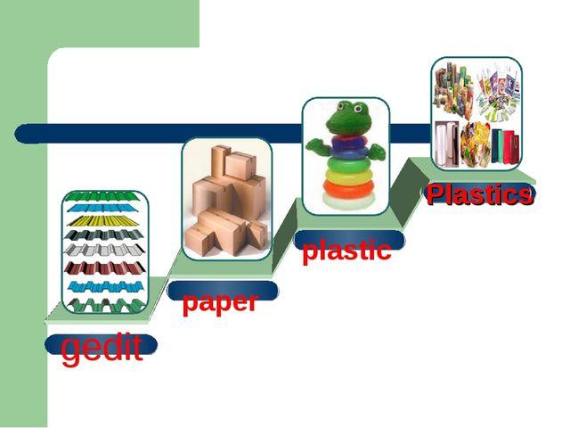 gedit paper plastic