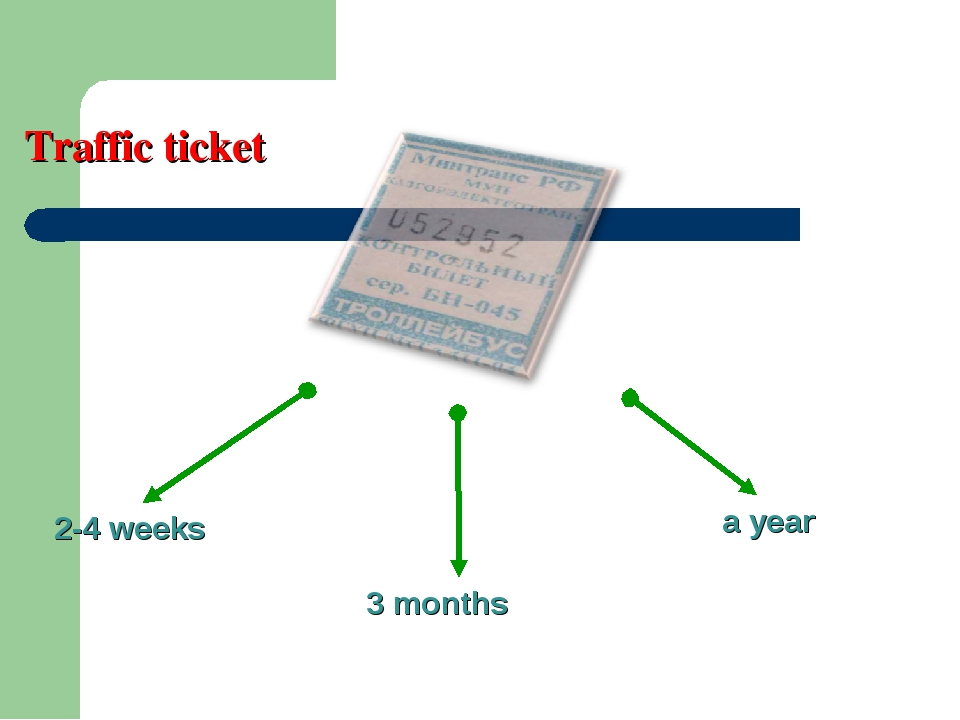 2-4 weeks 3 months a year Traffic ticket