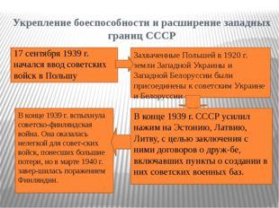 Укрепление боеспособности и расширение западных границ СССР 17 сентября 1939