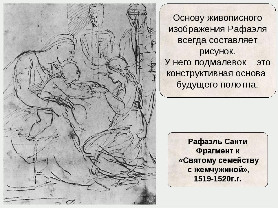 Основу живописного изображения Рафаэля всегда составляет рисунок. У него подм...