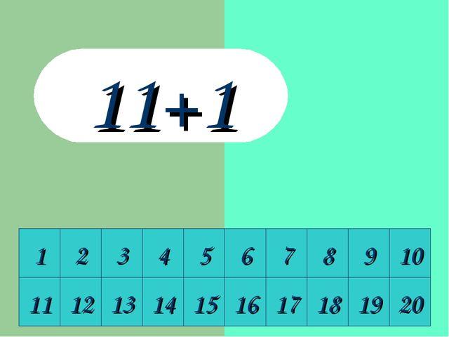 1 2 3 4 5 6 7 8 9 10 11 12 13 14 15 16 17 18 19 20 11+1