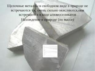 Щелочные металлы в свободном виде в природе не встречаются т.к. очень сильно
