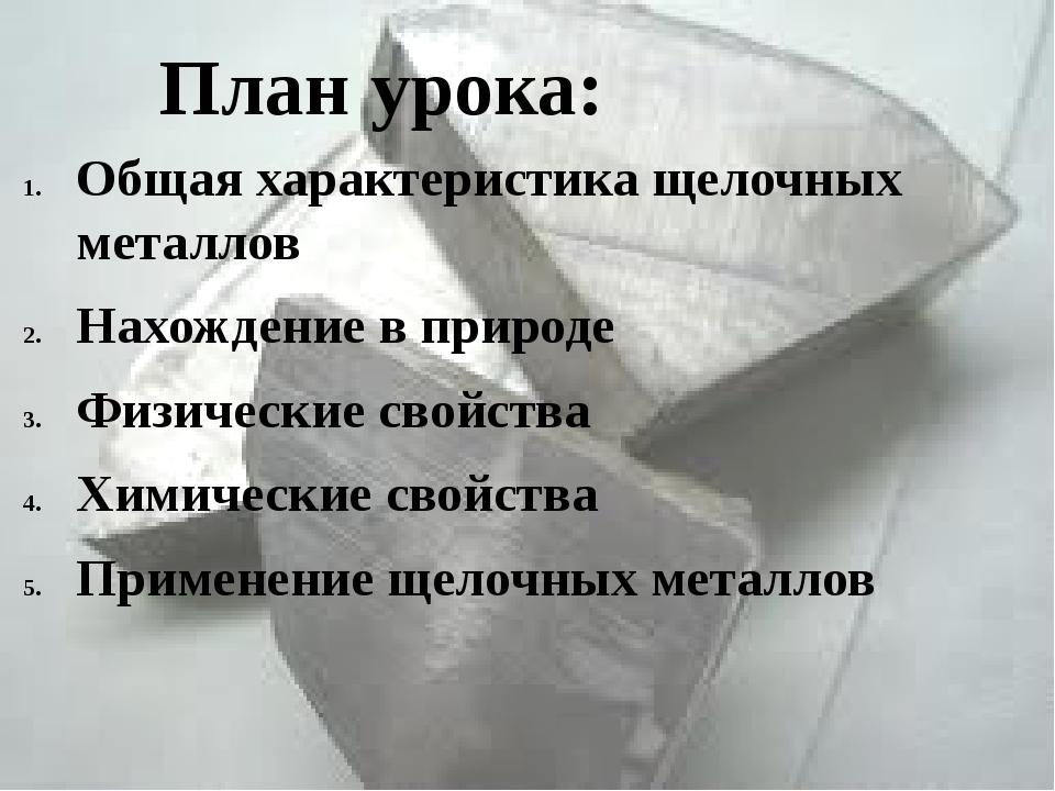 Общая характеристика щелочных металлов Нахождение в природе Физические свойст...