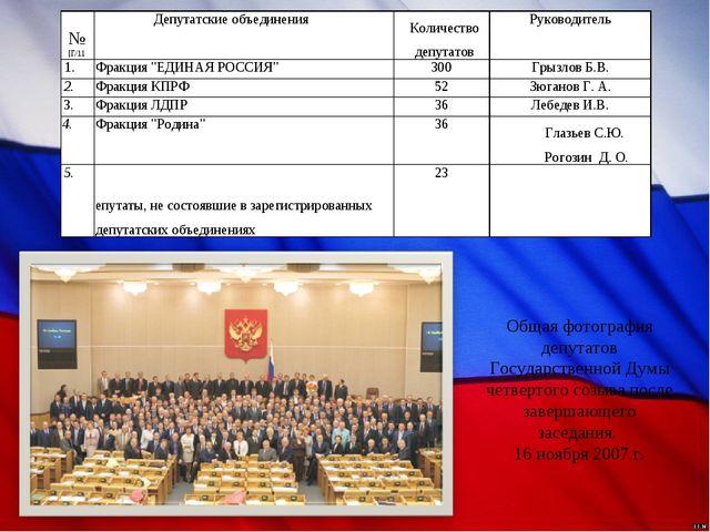 Общая фотография депутатов Государственной Думы четвертого созыва после завер...