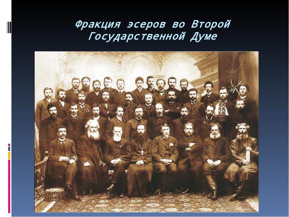 Фракция эсеров во Второй Государственной Думе