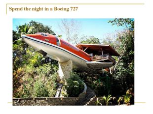 Spend the night in a Boeing 727