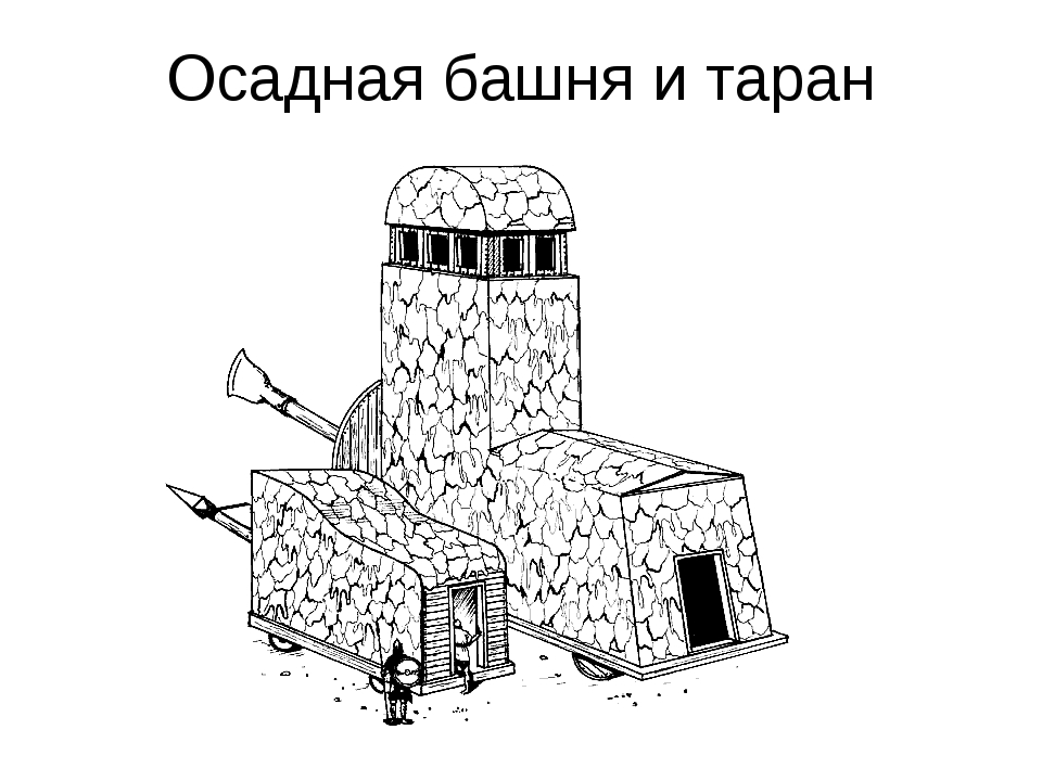 Осадная башня и таран