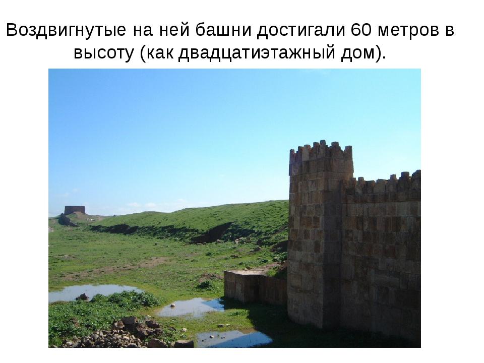 Воздвигнутые на ней башни достигали 60 метров в высоту (как двадцатиэтажный д...