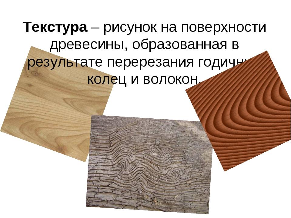 Текстура – рисунок на поверхности древесины, образованная в результате перере...