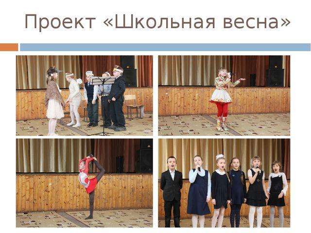 Проект «Школьная весна»