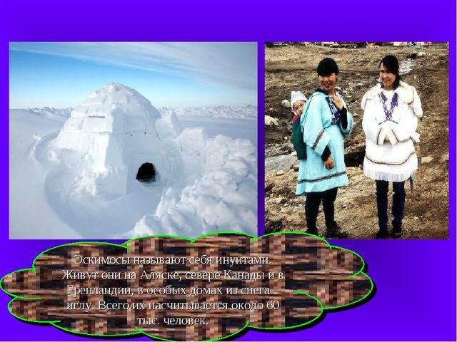 Эскимосы называют себя инуитами. Живут они на Аляске, севере Канады и в Гренл...