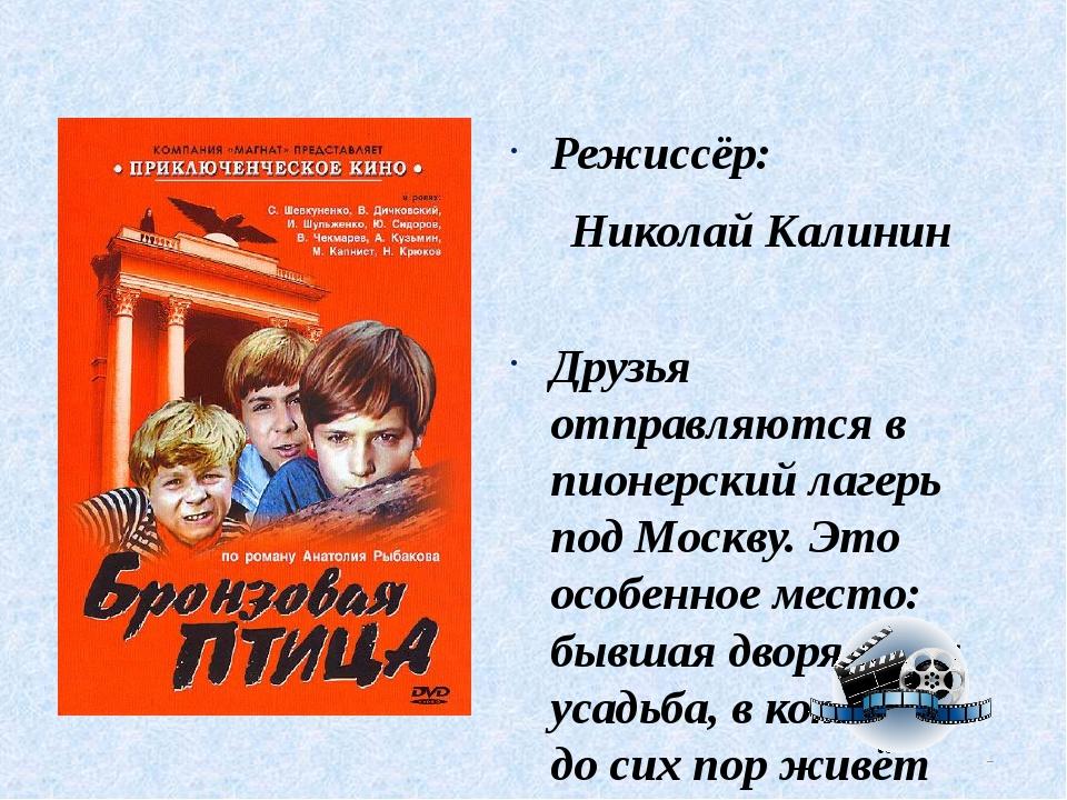 Режиссёр: Николай Калинин Друзья отправляются в пионерский лагерь под Москву....