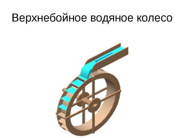 Верхнебойное водяное колесо
