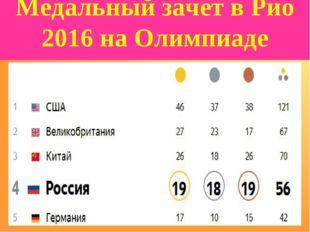 Медальный зачет в Рио 2016 на Олимпиаде