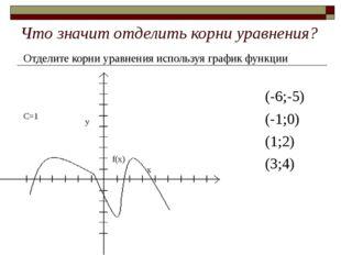 Что значит отделить корни уравнения? Отделите корни уравнения используя графи