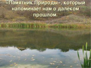 «Памятник Природы», который напоминает нам о далёком прошлом.